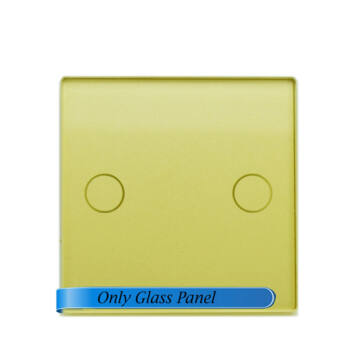 SMARTZILLA moduláris üveg panel kerethez, 2 csatornás kapcsolóhoz arany