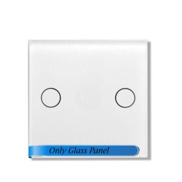 SMARTZILLA moduláris üveg panel kerethez, 2 csatornás kapcsolóhoz fehér