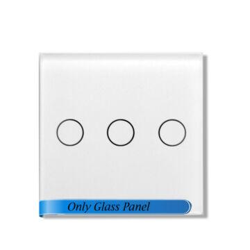 SMARTZILLA moduláris üveg panel kerethez, 3 csatornás kapcsolóhoz fehér