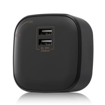 SMARTZILLA SmartTrack USB aljzat, dual, fekete