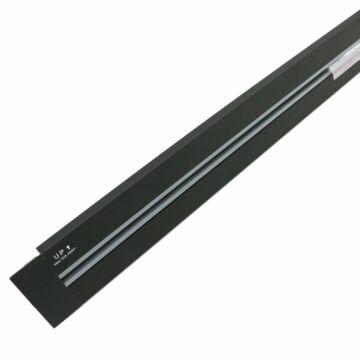 SMARTZILLA SmartTrack dugalj sín, 1M, beépíthető, fekete