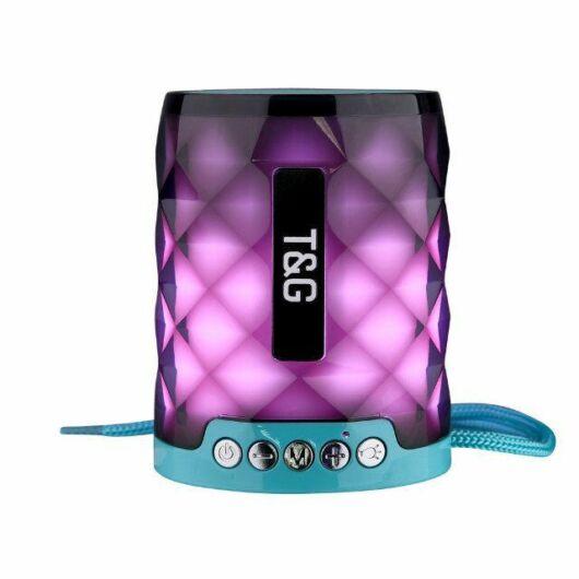 Bluetooth hordozható hangszóró T&G TG-155 Zöld-fekete