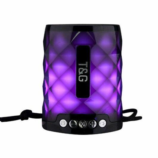 Bluetooth hordozható hangszóró T&G TG-155 Fekete-fekete