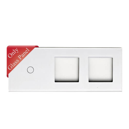 SMARTZILLA üveg lap 1 csatornás kapcsolóhoz + 2 dugalj keret fehér