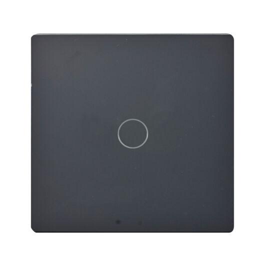 SMARTZILLA üveg lap 1 csatornás kapcsolóhoz 86*86 fekete