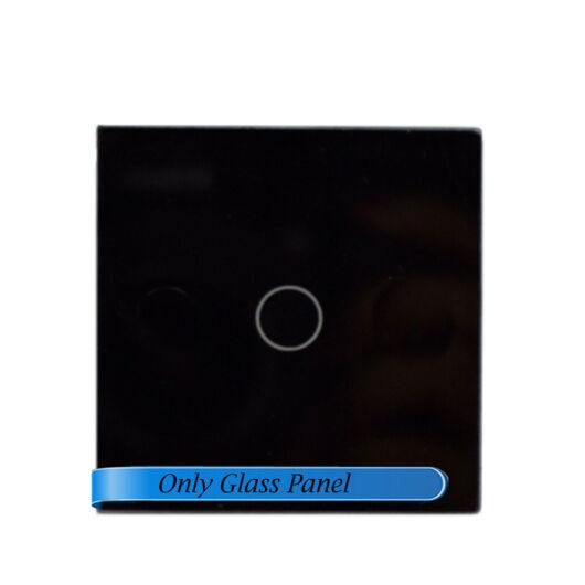 SMARTZILLA moduláris üveg panel kerethez, 1 csatornás kapcsolóhoz fekete