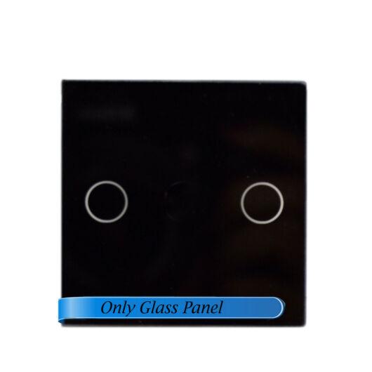 SMARTZILLA moduláris üveg panel kerethez, 2 csatornás kapcsolóhoz fekete