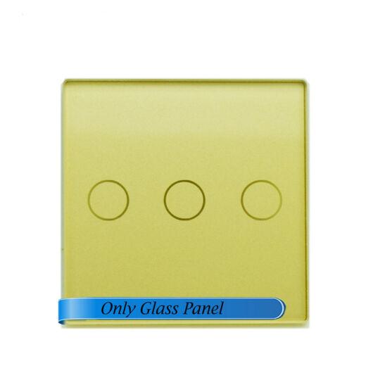 SMARTZILLA moduláris üveg panel kerethez, 3 csatornás kapcsolóhoz arany