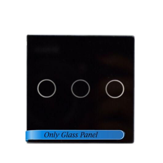 SMARTZILLA moduláris üveg panel kerethez, 3 csatornás kapcsolóhoz fekete